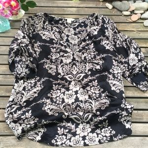 🌻Monsoon 100% Silk Floral Top Tunic Size 4